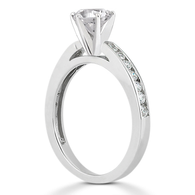 Taryn Collection Platinum Diamond Engagement Ring TQD A-2371 Alternative View 1