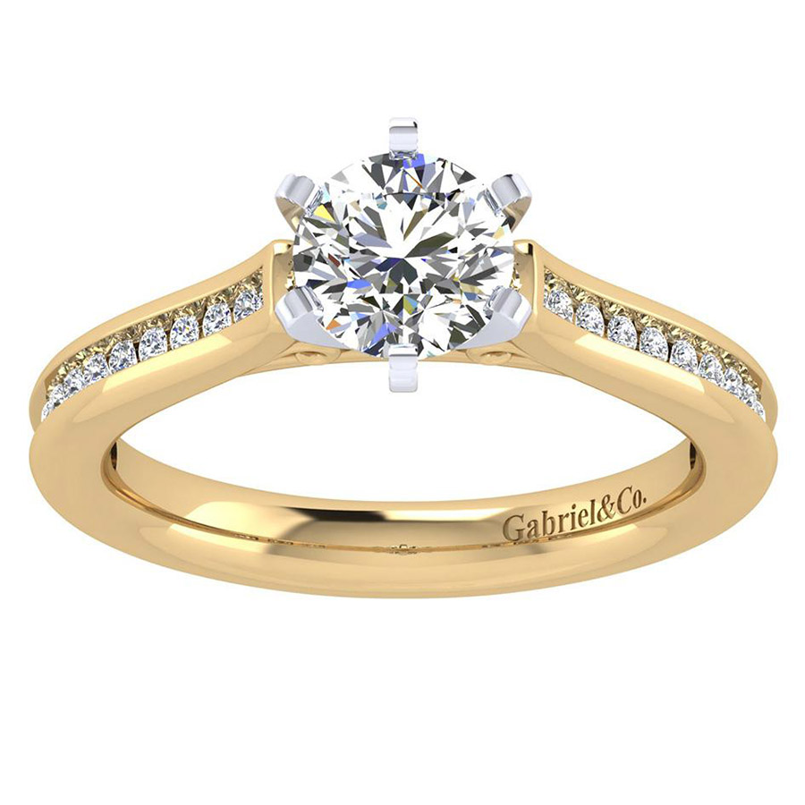 Gabriel 14 Karat Contemporary Engagement Ring ER6674M44JJ Alternative View 4