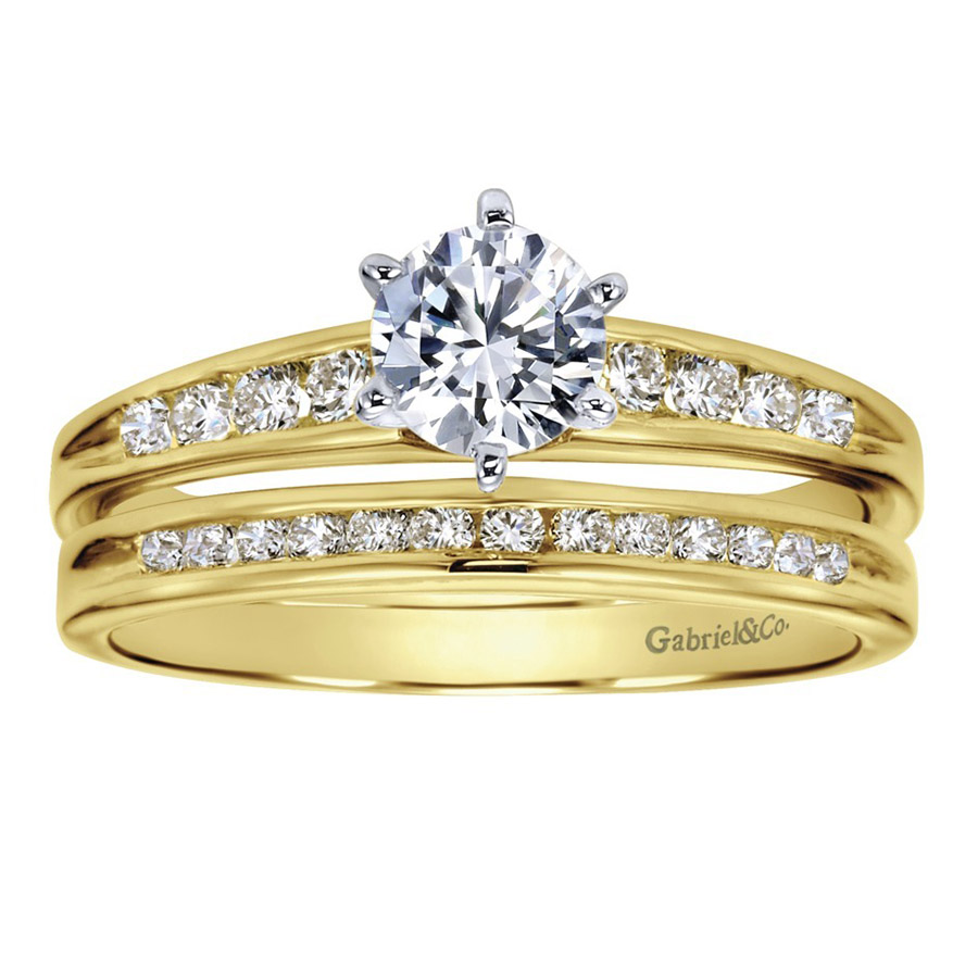 Gabriel 14 Karat Contemporary Wedding Band WB2150Y44JJ Alternative View 3