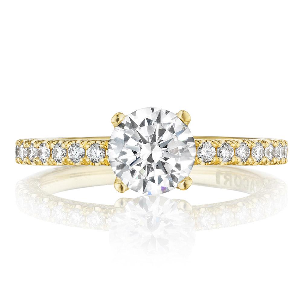 tacori ht2545rd65y 18 karat tacori gold engagement ring