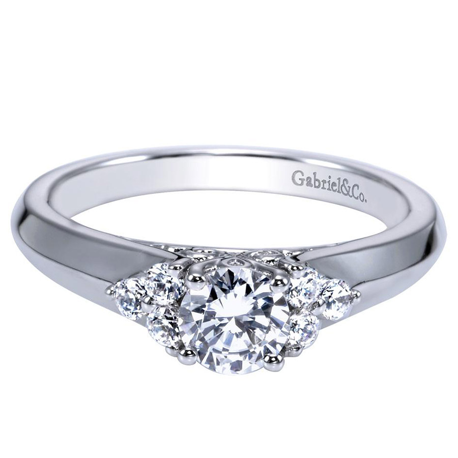 Gabriel 14 Karat Contemporary Engagement Ring ER98543W44JJ