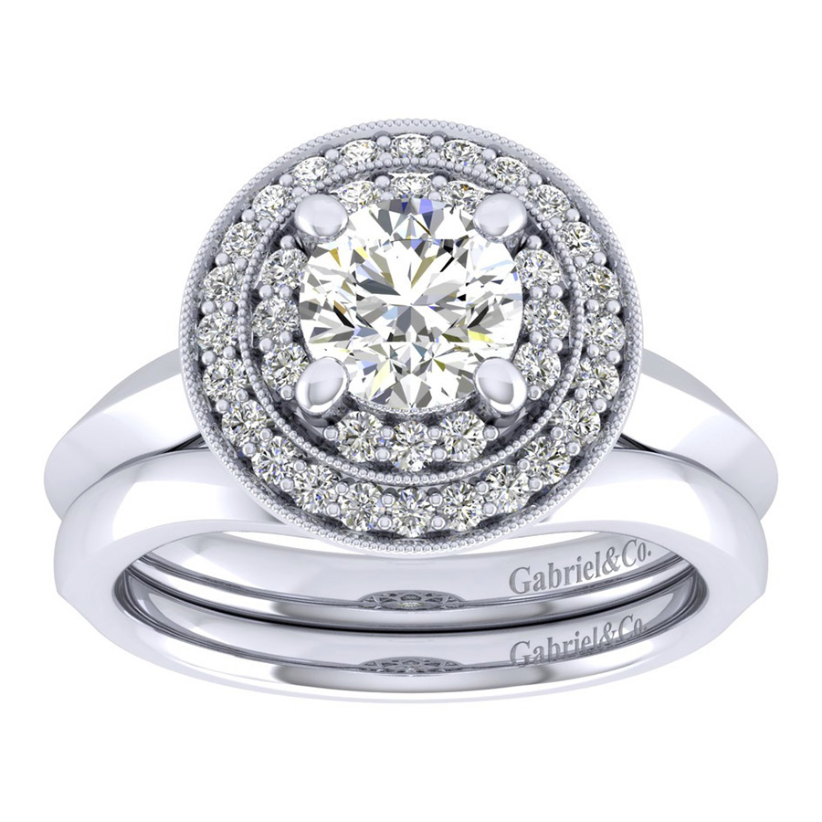 Gabriel 14 Karat Perfect Match Engagement Ring ER001B4AHW44JJ Alternative View 3