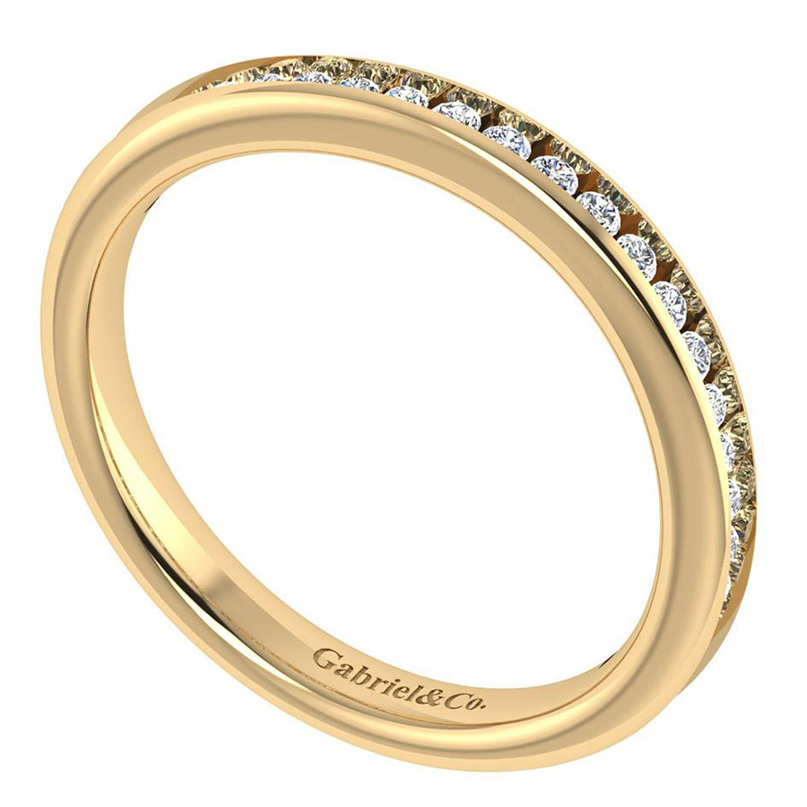 Gabriel 14 Karat Contemporary Wedding Band WB7516Y44JJ Alternative View 2