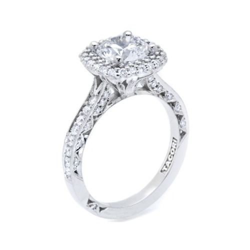 HT2522CU75 Tacori Crescent Platinum Engagement Ring Alternative View 3