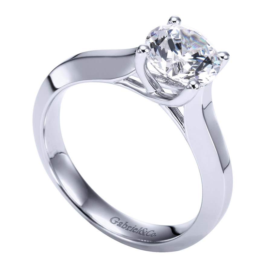 Gabriel Platinum Contemporary Engagement Ring ER6612PTJJJ Alternative View 2