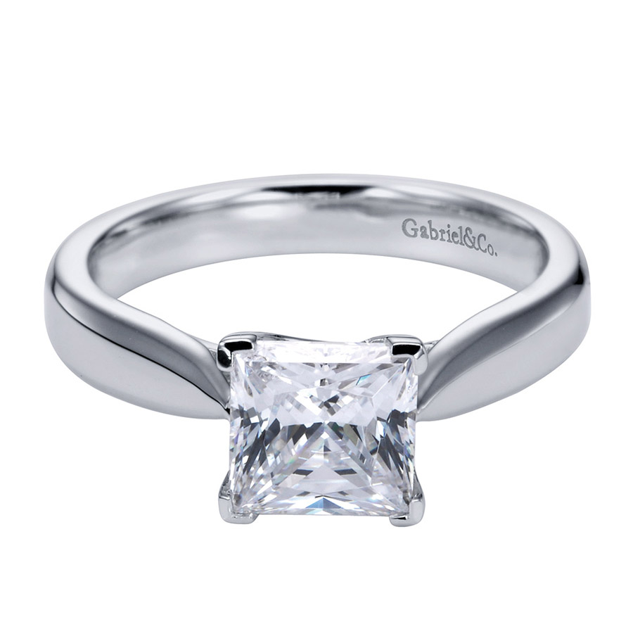 Gabriel Platinum Contemporary Engagement Ring ER6597PTJJJ