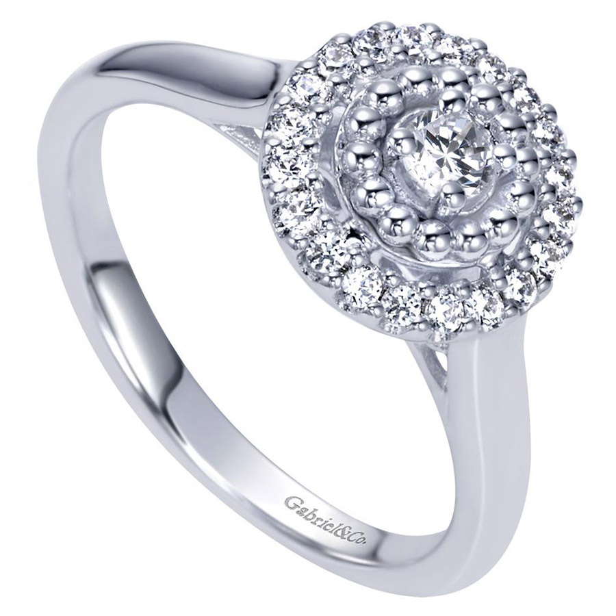 Gabriel 14 Karat Contemporary Engagement Ring ER98428W44JJ Alternative View 2