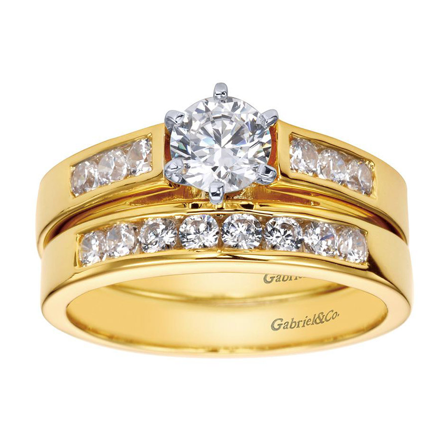 Gabriel 14 Karat Contemporary Engagement Ring ER2315M43JJ Alternative View 3