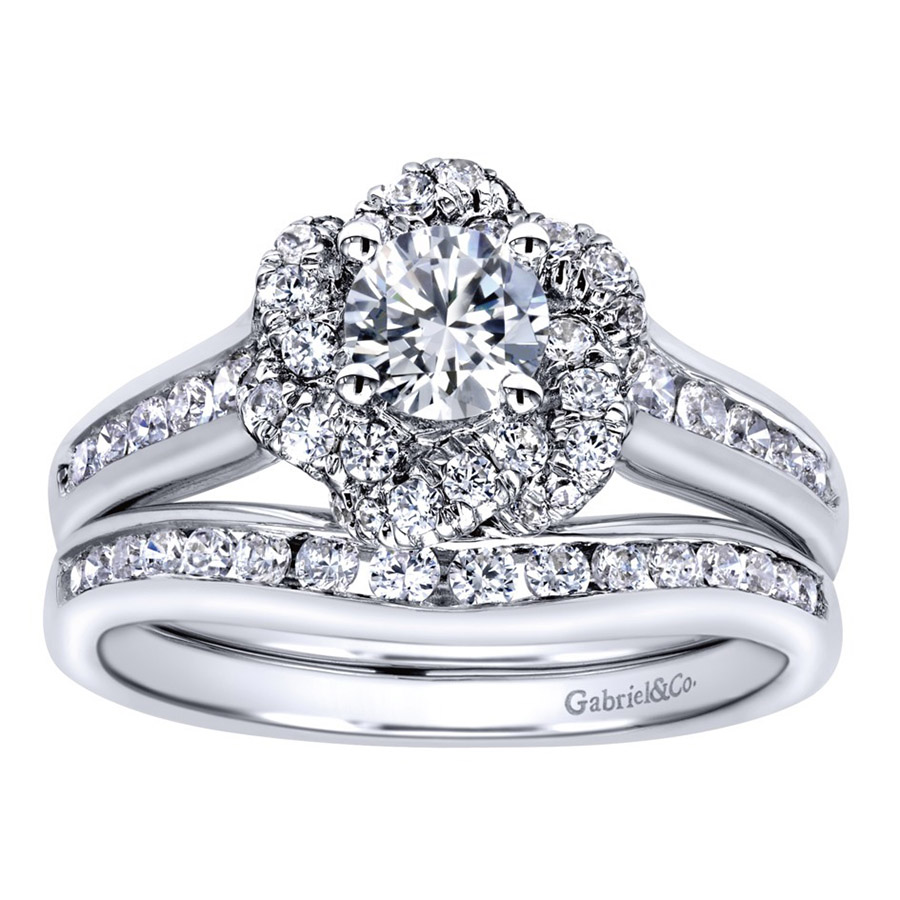 Gabriel 14 Karat Contemporary Engagement Ring ER910138W44JJ Alternative View 3