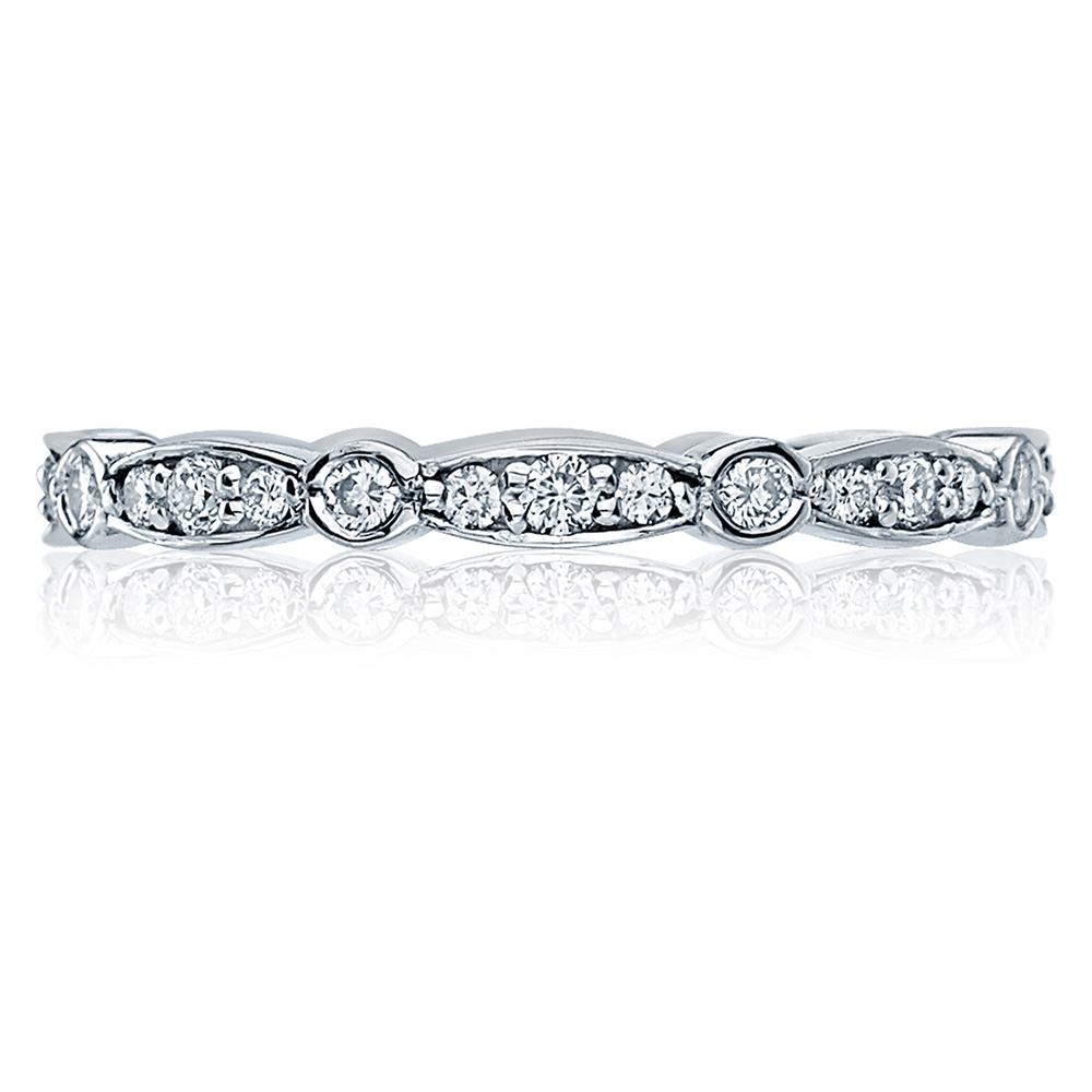 47-2ET Platinum Tacori Sculpted Crescent Diamond Wedding Ring