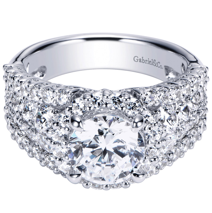 Gabriel 14 Karat Contemporary Engagement Ring ER8446W83JJ