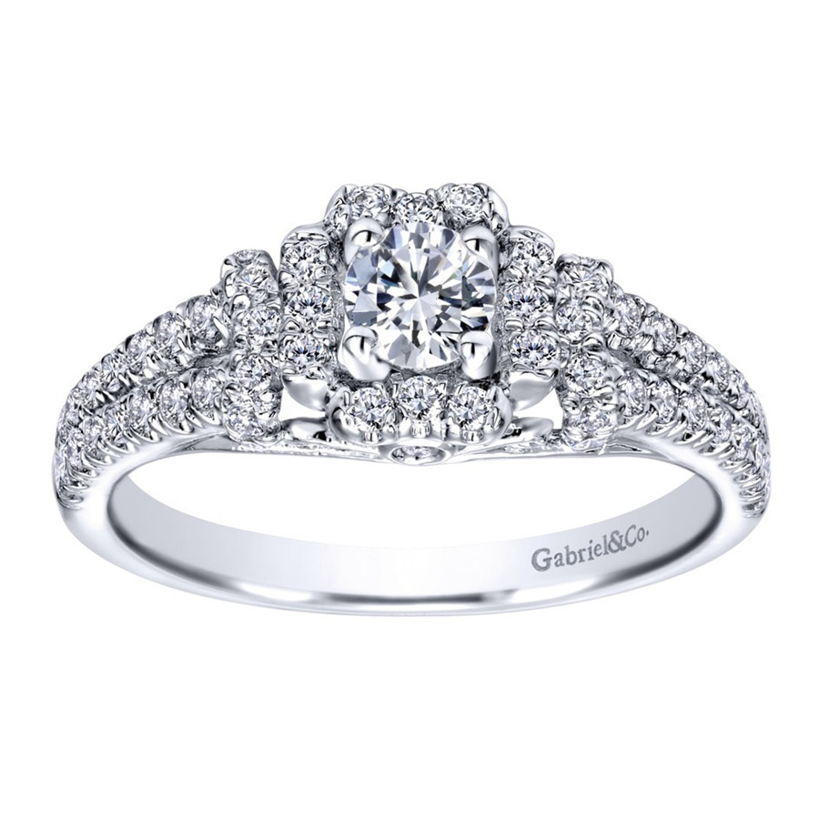 Gabriel 14 Karat Contemporary Engagement Ring ER910161W44JJ Alternative View 4