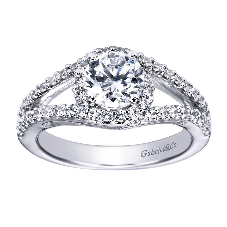 Gabriel 14 Karat Contemporary Engagement Ring ER5999W44JJ Alternative View 4