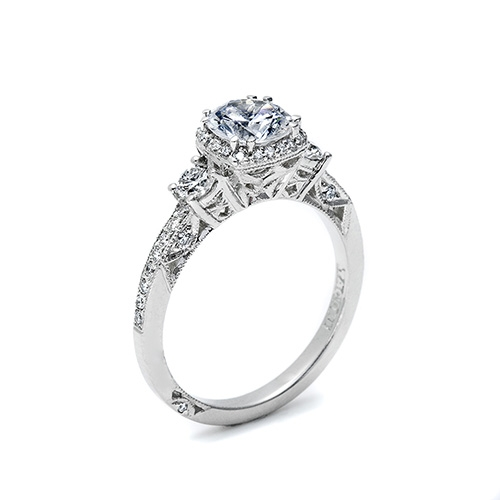Tacori Platinum Dantela Engagement Ring 2623RDMDP Alternative View 1