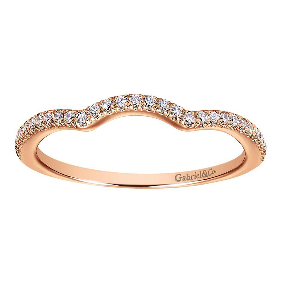 Gabriel 14 Karat Contemporary Wedding Band WB7806K44JJ Alternative View 4