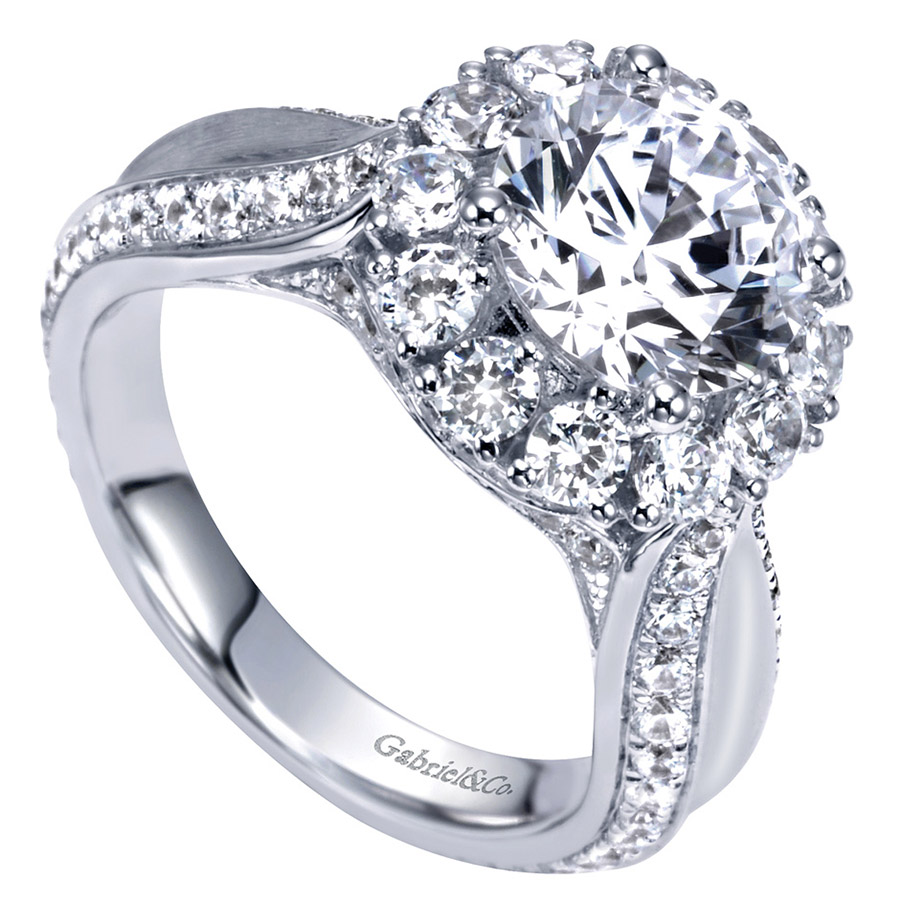 Gabriel 14 Karat Contemporary Engagement Ring ER8766W83JJ Alternative View 2