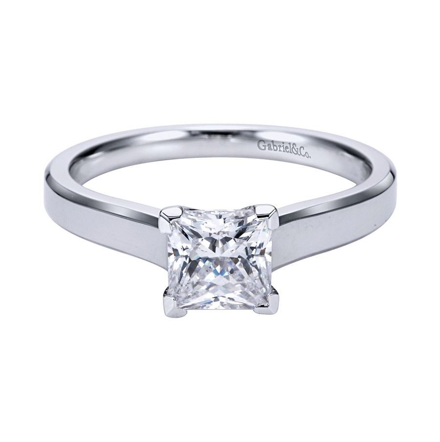 Gabriel Platinum Contemporary Engagement Ring ER6575PTJJJ