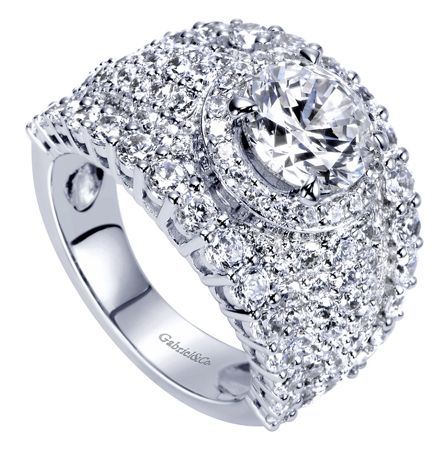 Gabriel 18 Karat Contemporary Engagement Ring ER8447W83JJ Alternative View 2