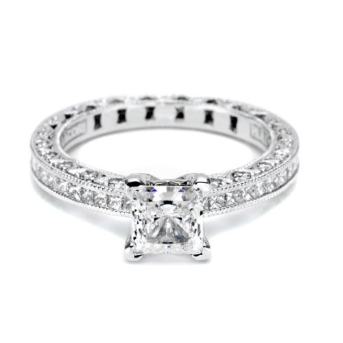 Tacori Crescent Platinum Engagement Ring HT2430SMSOL