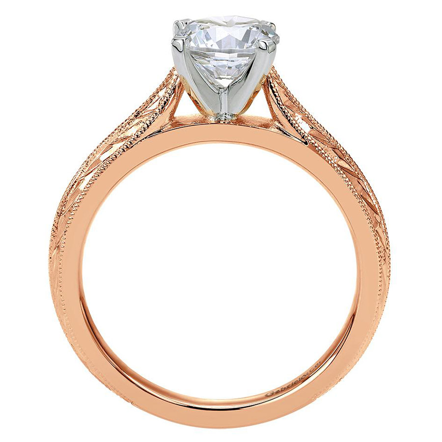 Gabriel 14 Karat Victorian Engagement Ring ER6707T4JJJ Alternative View 1