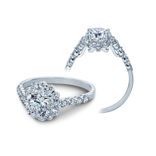Verragio Platinum Insignia Engagement Ring INS-7033