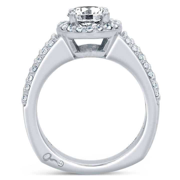 A.JAFFE Platinum Signature Engagement Ring MES687 Alternative View 1