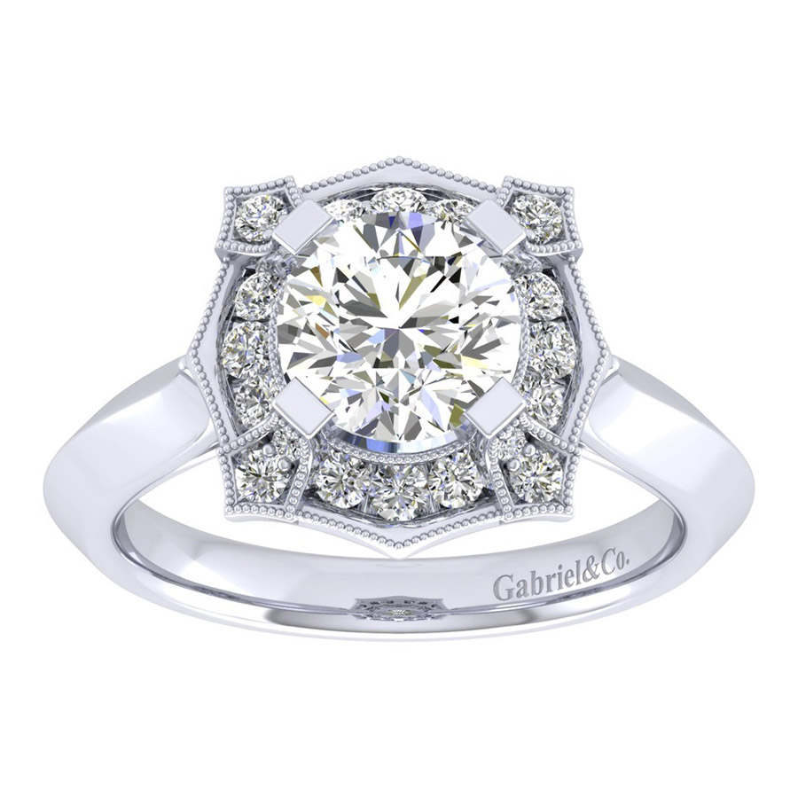 Gabriel 14 Karat Perfect Match Engagement Ring ER001C6ADW44JJ Alternative View 4