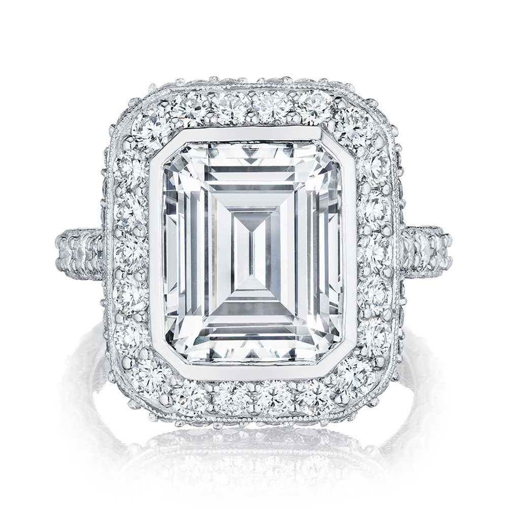 HT2614EC11X9 Platinum Tacori RoyalT Engagement Ring