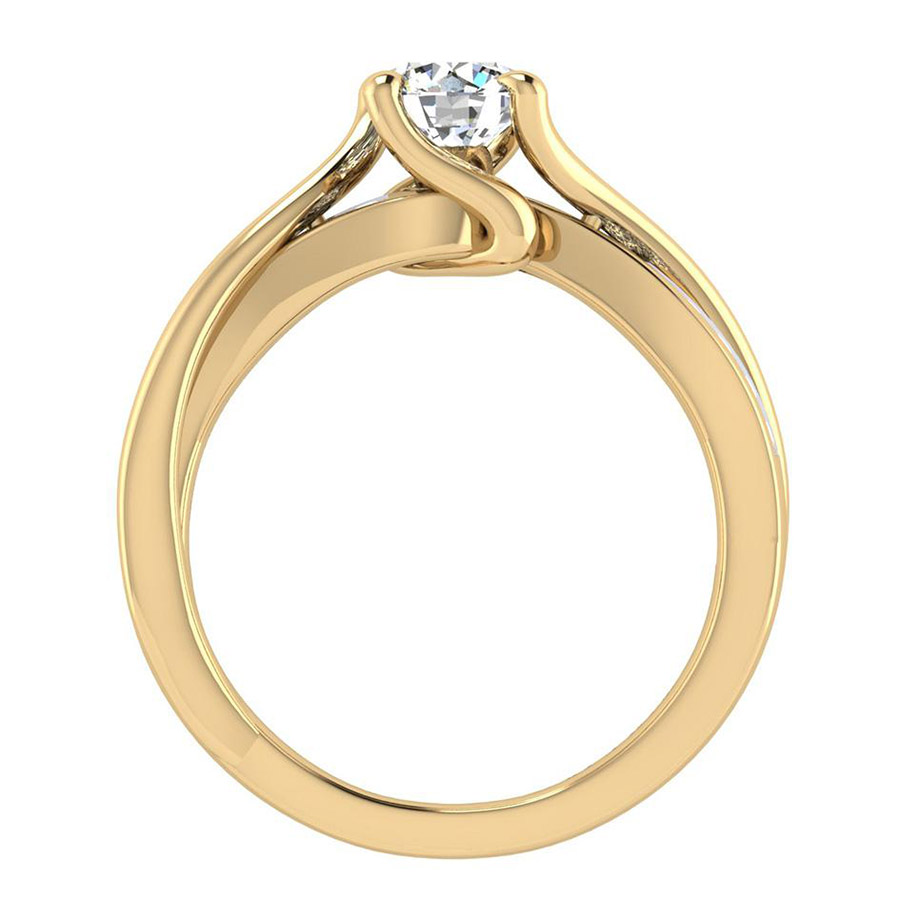 Gabriel 14 Karat Contemporary Engagement Ring ER6360Y44JJ Alternative View 1