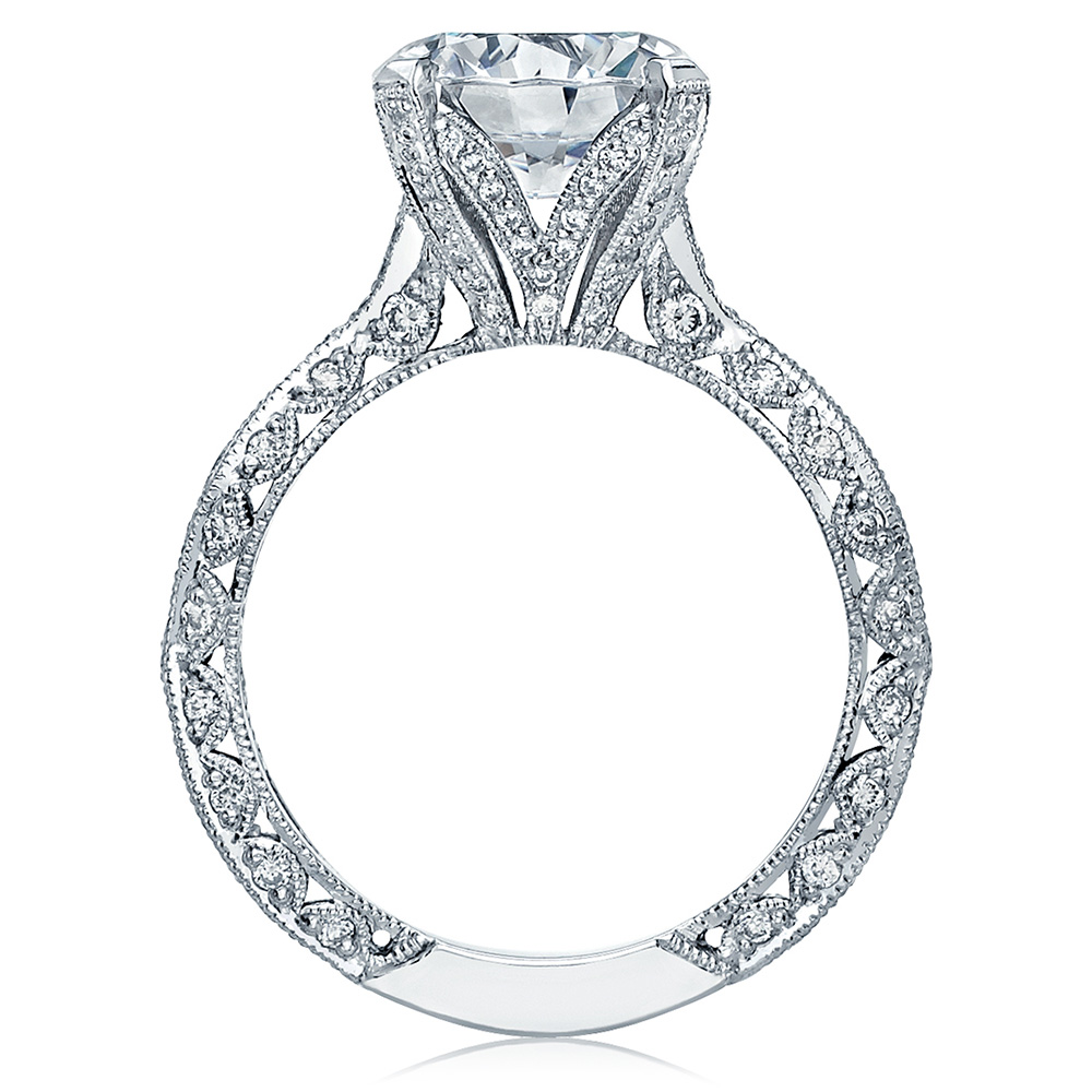 HT2602RD95 Platinum Tacori RoyalT Engagement Ring Alternative View 1