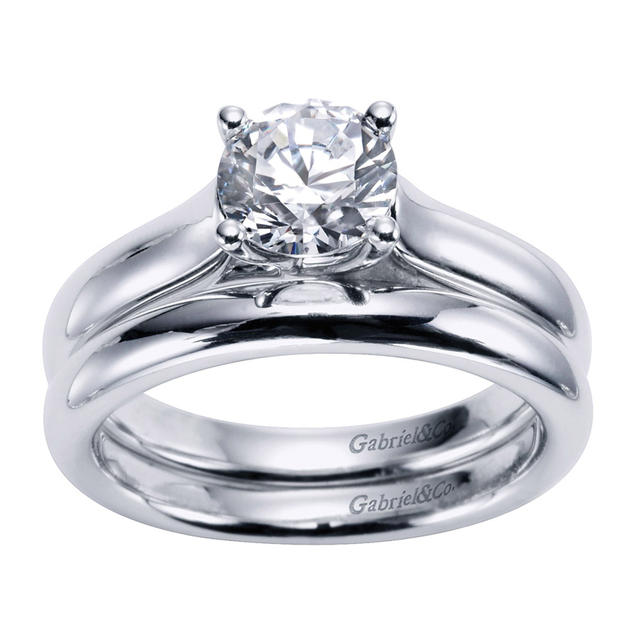 Gabriel Platinum Contemporary Engagement Ring ER6601PTJJJ Alternative View 3