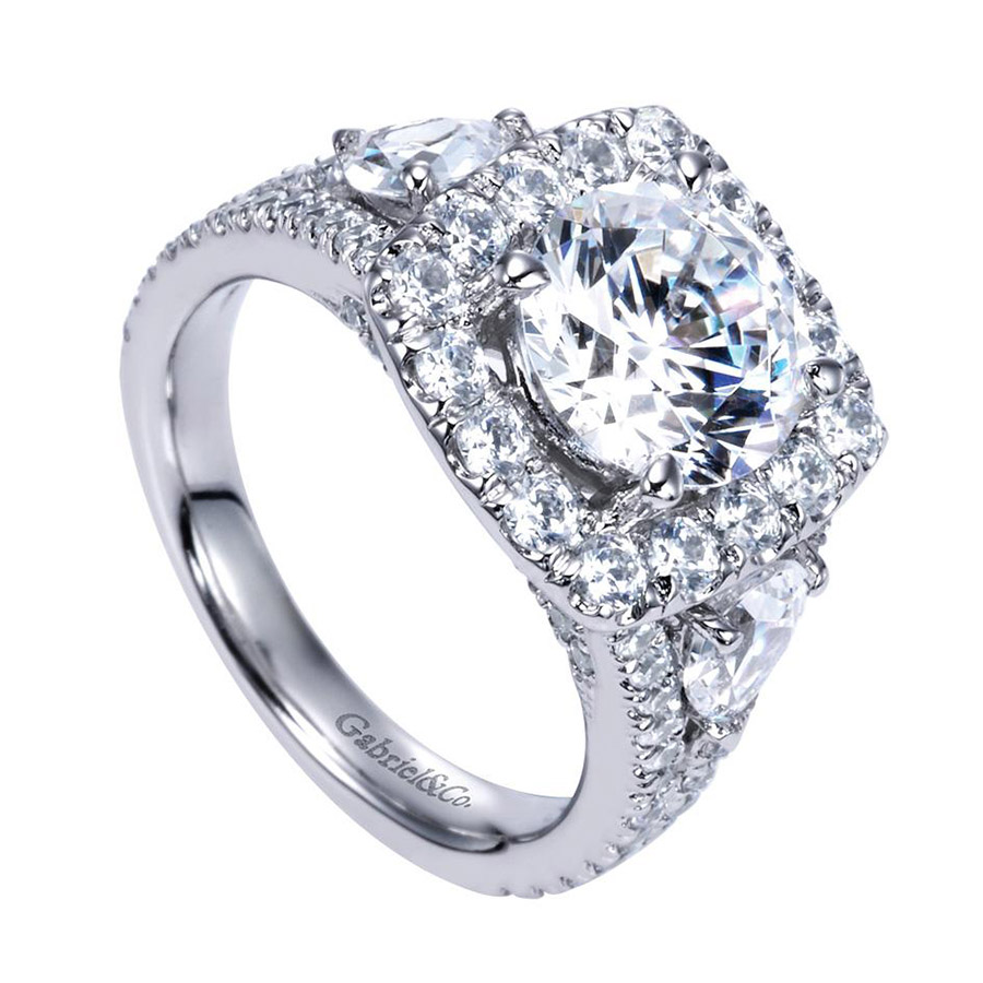Gabriel 14 Karat Contemporary Engagement Ring ER8328W83JJ Alternative View 2