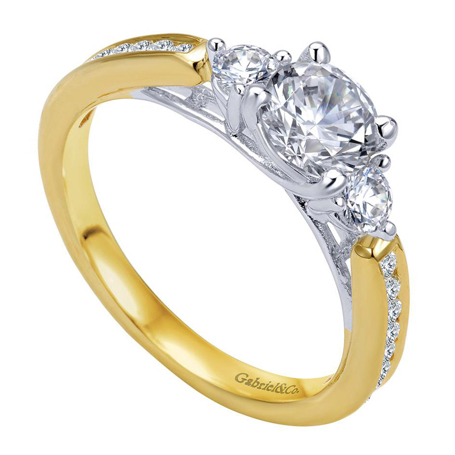 Gabriel 14 Karat Contemporary Engagement Ring ER7449M44JJ Alternative View 2