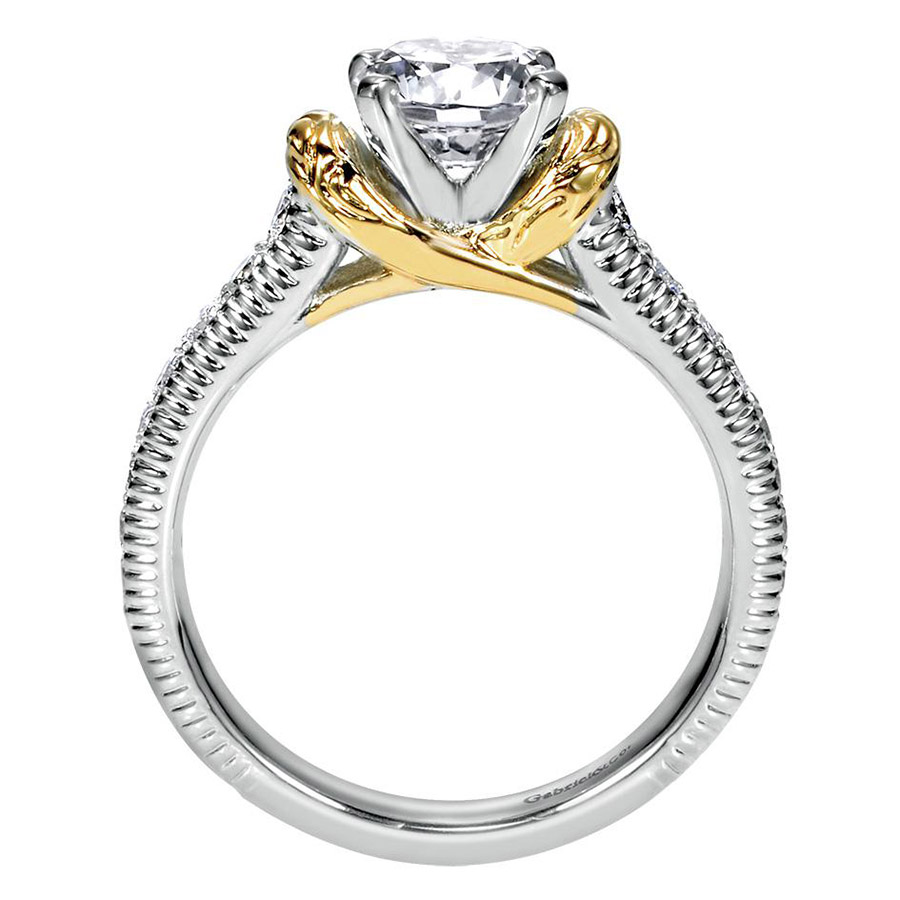 Gabriel 14 Karat Contemporary Engagement Ring ER9238M44JJ Alternative View 1