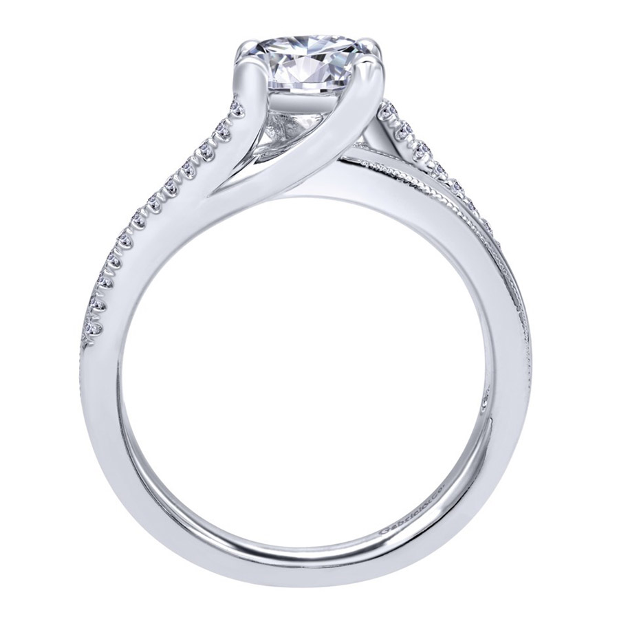 Gabriel 14 Karat Contemporary Engagement Ring ER10260W44JJ Alternative View 1