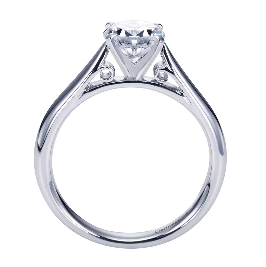 Gabriel Platinum Contemporary Engagement Ring ER6672PTJJJ Alternative View 1