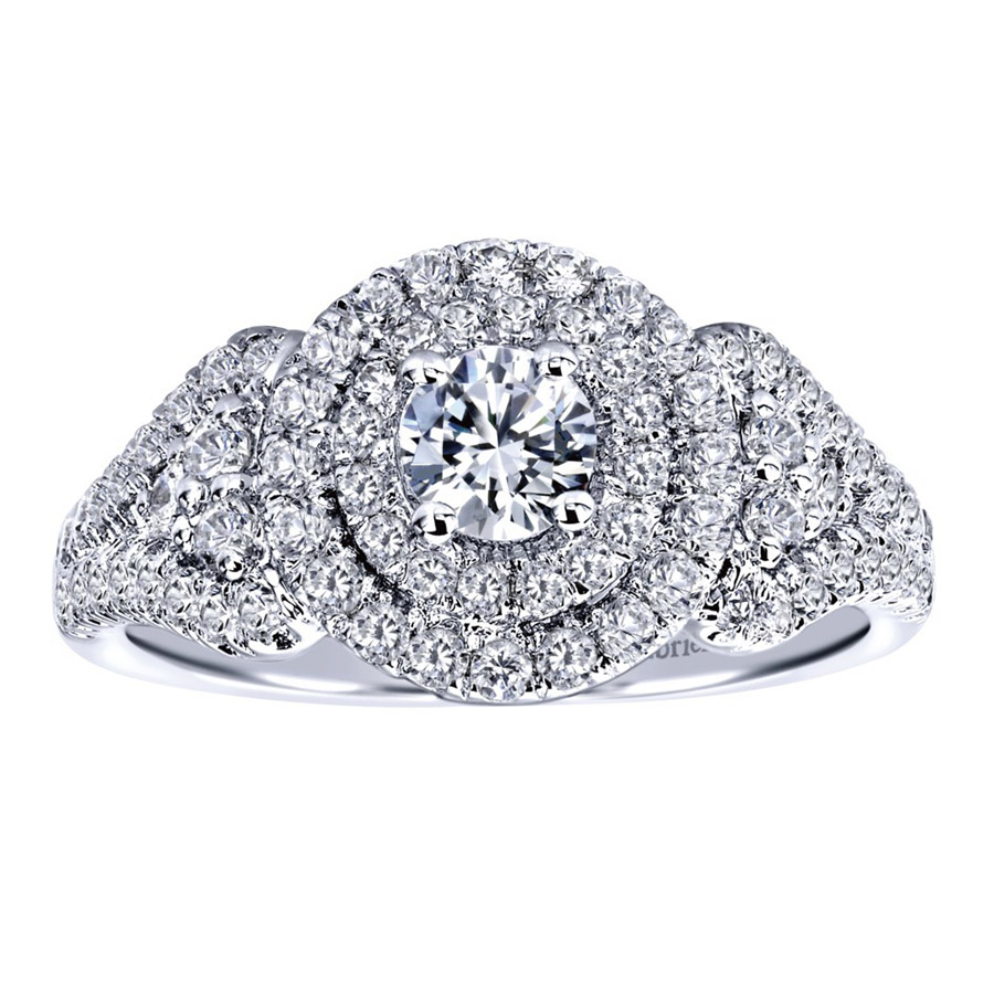 Gabriel 14 Karat Contemporary Engagement Ring ER910145W44JJ Alternative View 4