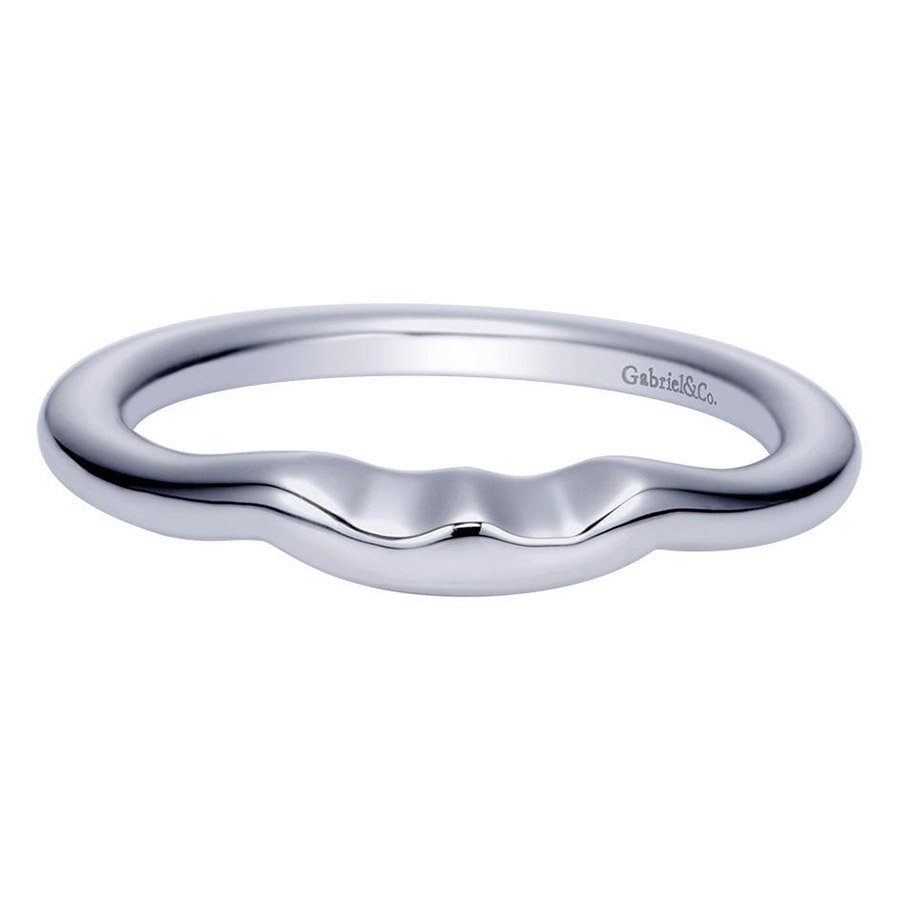 Gabriel Platinum Contemporary Wedding Band WB5993PTJJJ