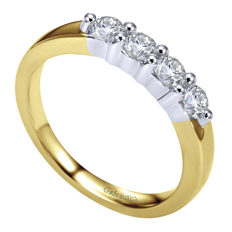 Gabriel 14 Karat Contemporary Wedding Band WB2789M43JJ Alternative View 2