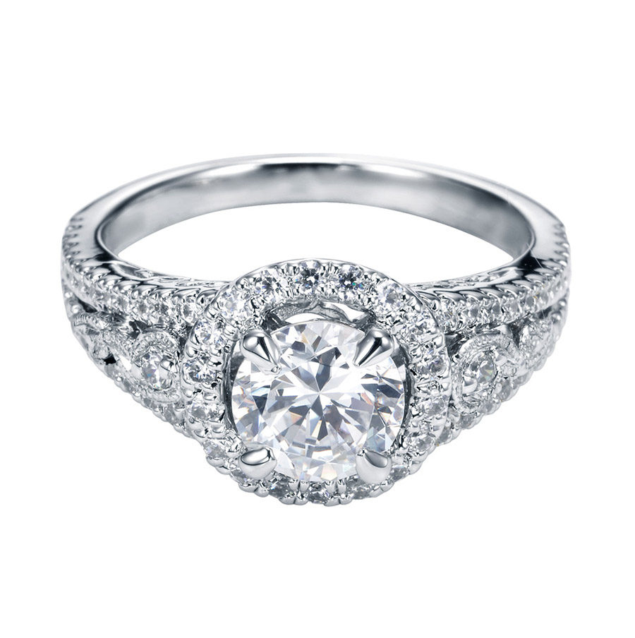 Gabriel 14 Karat Contemporary Engagement Ring ER5375PT5JJ