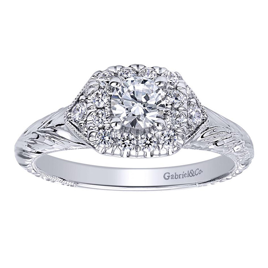 Gabriel 14 Karat Contemporary Engagement Ring ER910421W44JJ Alternative View 4
