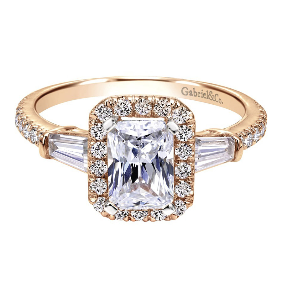Gabriel 14 Karat Contemporary Engagement Ring ER8354K44JJ