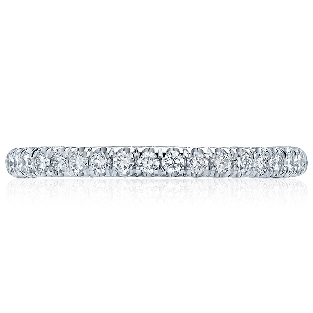 HT2545B12 Platinum Tacori Classic Crescent Diamond Wedding Ring
