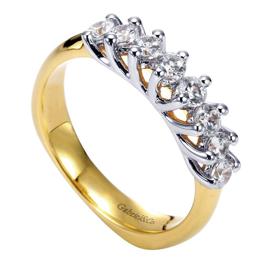 Gabriel 14 Karat Contemporary Wedding Band WB3956Y44JJ Alternative View 2