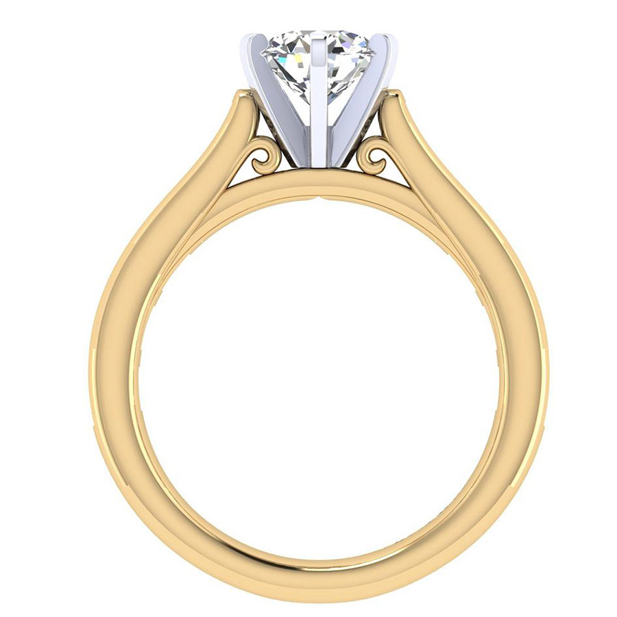 Gabriel 14 Karat Contemporary Engagement Ring ER6674M44JJ Alternative View 1