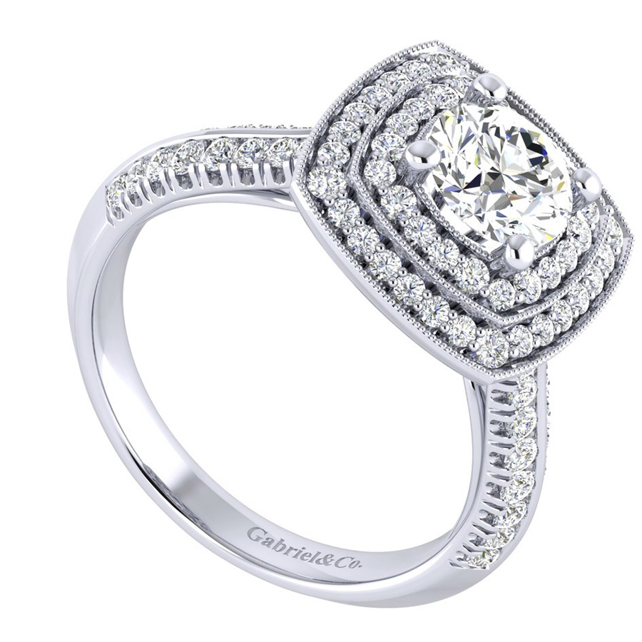 Gabriel 14 Karat Perfect Match Engagement Ring ER002B4AGW44JJ Alternative View 2