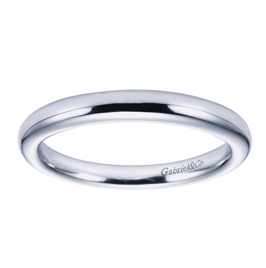 Gabriel Platinum Contemporary Wedding Band WB6600PTJJJ Alternative View 4