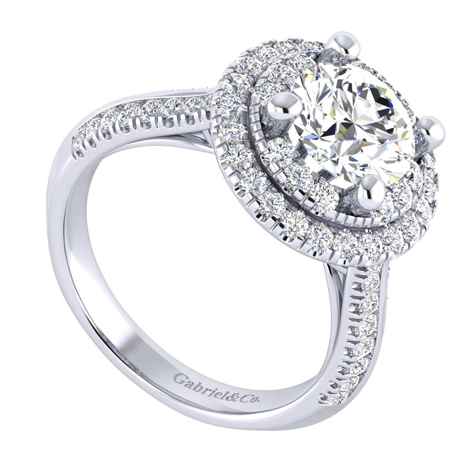 Gabriel 14 Karat Perfect Match Engagement Ring ER002C8AIW44JJ Alternative View 2