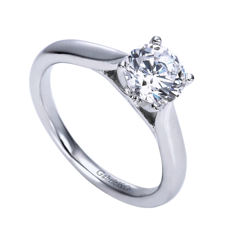 Gabriel Platinum Contemporary Engagement Ring ER7894PTJJJ Alternative View 2