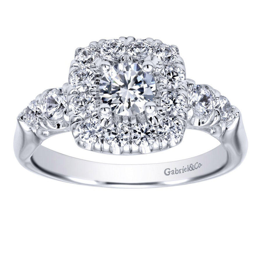 Gabriel 14 Karat Contemporary Engagement Ring ER910292W44JJ Alternative View 4